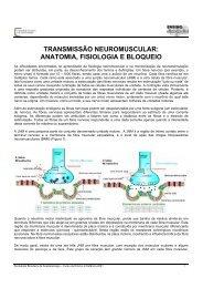 transmissão neuromuscular - Sociedade Brasileira de Anestesiologia