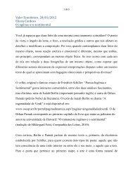 """""""O ingênuo e o sentimental"""". Valor econômico, 20/01 - Eliana Cardoso"""