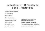 Seminário 1 – O mundo de Sofia - Aristóteles - Gercina Lima