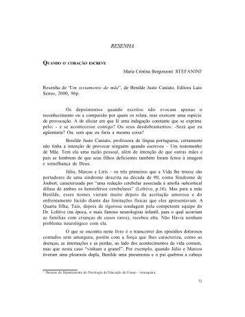 RESENHA - Associação Brasileira de Pesquisadores em Educação ...