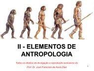 II - ELEMENTOS DE ANTROPOLOGIA