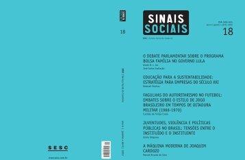 Revista Sinais Sociais N18 pdf - Sesc