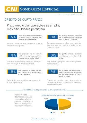 sondagem Especial sobre o crédito de curto prazo - CNI