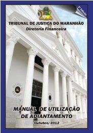 manual de utilização de adiantamento - Tribunal de Justiça do ...