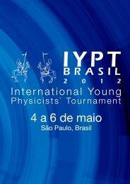 Booklet do Torneio Nacional - IYPT Brasil