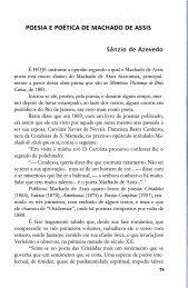 Poesia e Poética de Machado de Assis - SÂNZIO DE AZEVEDO