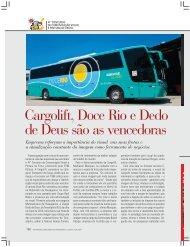 Cargolift, Doce Rio e Dedo - Revista Transporte Moderno