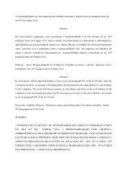 A responsabilidade civil das empresas em trabalhos em minas e ...