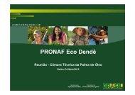 PRONAF Eco Dendê - Ministério da Agricultura