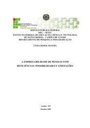 A EMPREGABILIDADE DE PESSOAS COM DEFICIÊNCIAS ... - IFRS