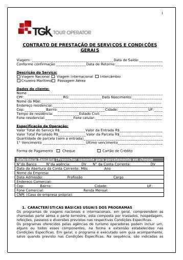 CONTRATO DE PRESTAÇÃO DE SERVIÇOS E CONDIÇÕES ... - TGK