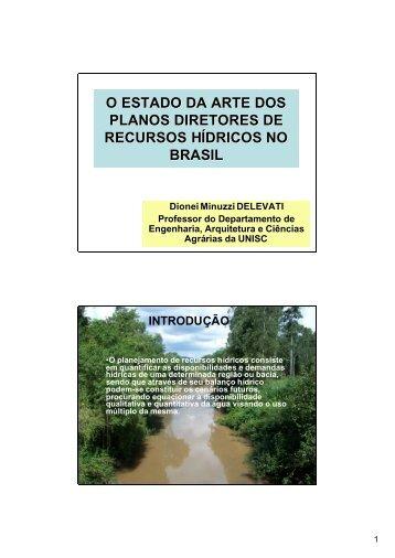 o estado da arte dos planos diretores de recursos hídricos no brasil
