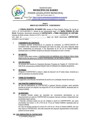Anexo I - Minuta do Contrato - TCM-CE