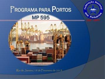 programa para portos mp 595 - Federação Nacional dos Portuários