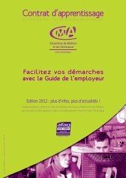 Contrat d'Apprentissage - Le Guide de l'Employeur - Chambre de ...