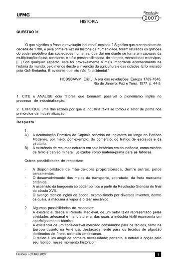 UFMG HISTÓRIA - Masterdirect