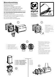 Motoranbauanleitung - WITTENSTEIN alpha