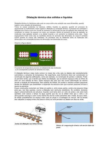 Dilatação térmica dos sólidos e líquidos - Fismat.net.br