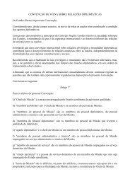 CONVENÇÃO DE VIENA SOBRE RELAÇÕES DIPLOMÁTICAS Os ...