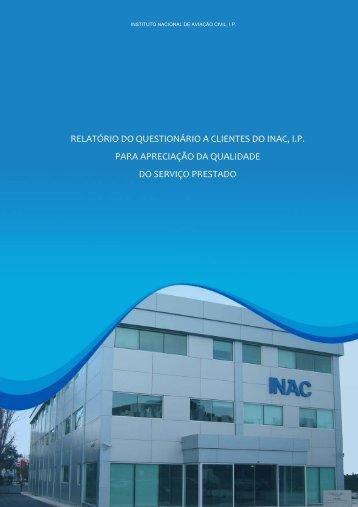 relatório do questionário a clientes do inac, i - Instituto Nacional de ...