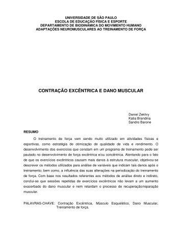 contração excêntrica e dano muscular - Portal Saúde Brasil