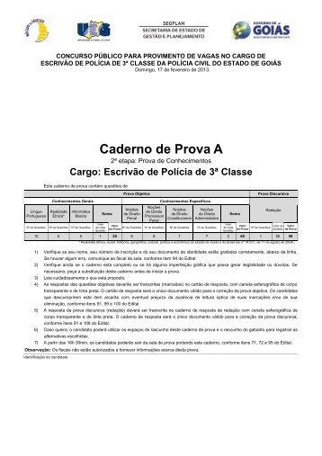 Caderno de Prova A - Concursos