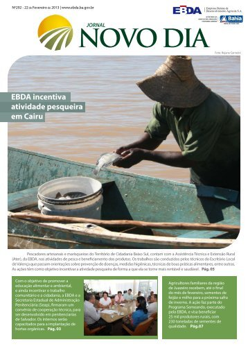 EBDA incentiva atividade pesqueira em Cairu