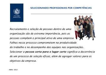 Seleção por Competências - PEOPLE RIGHT CONSULTING