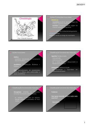 3a aula - Cinesiologia- Ações musculares, forças - UFSJ