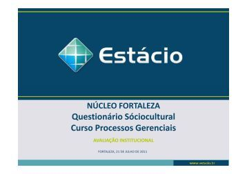 sociocultural processos gerenciais - Universidade Estácio de Sá