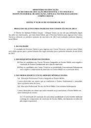 Edital Nº 02/2013 - Processo Seletivo para Ingresso