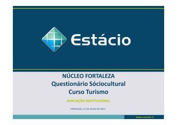 sociocultural turismo - Universidade Estácio de Sá