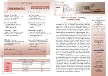 Boletim 150712.cdr - Primeira Igreja Presbiteriana do Recife