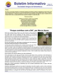 Boletim Informativo Edição XI - Associação Amigos de Itamambuca