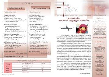 Boletim 100612.cdr - Primeira Igreja Presbiteriana do Recife