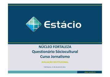 sociocultural jornalismo - Universidade Estácio de Sá