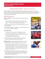 Tobacco Advertising & Youth: Marketing Tactics - Campaign for ...