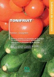 Lien vers la Fiche Technique Tonifruit légumes - Nufarm