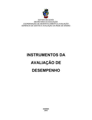 Instrumentos da Avaliação de Desempenho - Triênio 2010-2012