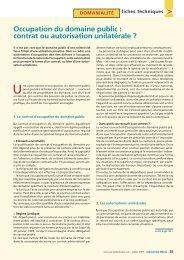 Occupation du domaine public : contrat ou autorisation unilatérale ?