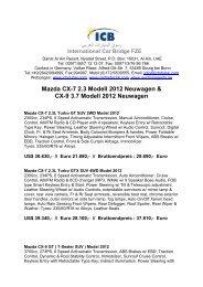 Mazda CX-7 2.3 Modell 2012 Neuwagen - ICB - International Car ...