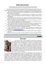 Relatório e Motivos de Oração Relatório e Motivos de Oração