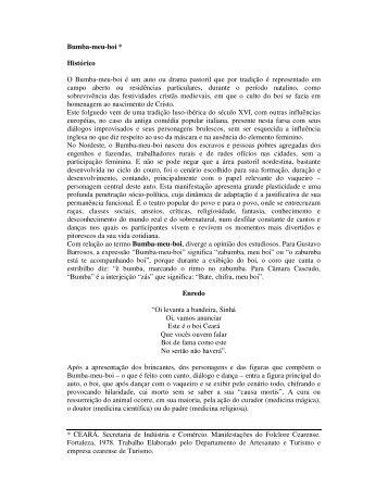 Bumba-meu-boi * Histórico - IFCE