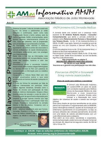 Informativo AMJM - Associação Médica de Minas Gerais