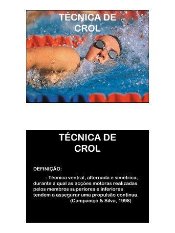 TÉCNICA DE CROL TÉCNICA DE CROL