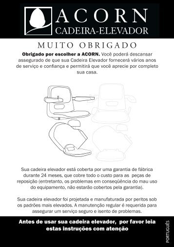 ACORN Cadeira-Elevador - Manual do Usuario - Acorn Stairlifts