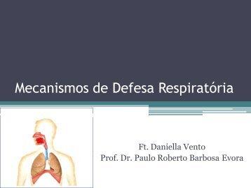 Mecanismos de Defesa Respiratória