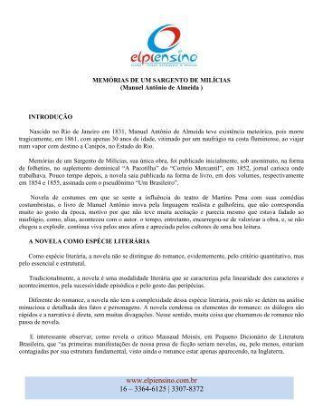 MEMÓRIAS DE UM SARGENTO DE MILÍCIAS - ELPI Ensino
