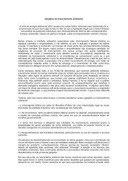 Gargalos do licenciamento ambiental A crise de energia elétrica de ...