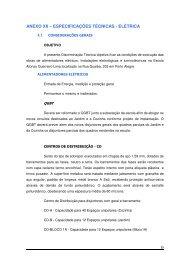 ANEXO XII – ESPECIFICAÇÕES TÉCNICAS - ELÉTRICA - Procempa